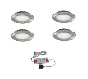 Upotettava EcoPower LED-valaisinsetti 4kpl