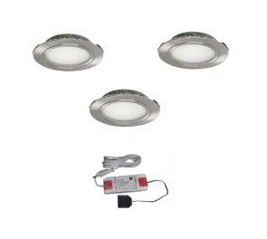 Upotettava EcoPower LED-valaisinsetti 3kpl